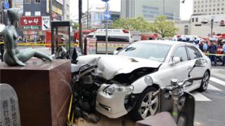 An older driver caused a multi-injury accident in Kobe after crashing into a monument. Similar accidents caused by elder drivers are prevalent across Japan (Credit: Alamy)