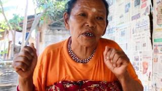 एक शरणार्थी महिला