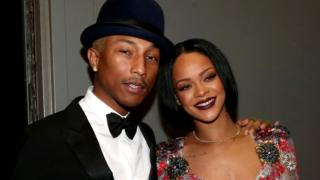 Pharell and Rihanna