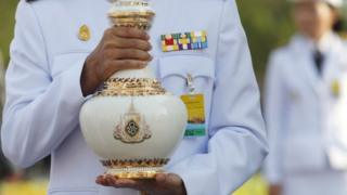Water consecration rituals in preparation for the Thai royal coronation ceremony