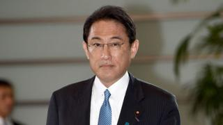 Japan's Foreign Minister Fumio Kishida arrives at the prime minister's official residence in Tokyo on August 3, 2016.
