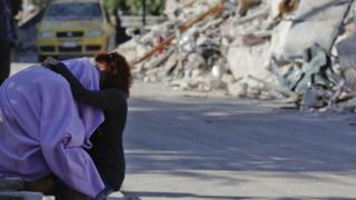 Quake survivors in Amatrice, 26 August 2016