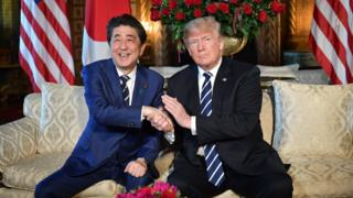 Shinzo Abe and Donald Trump