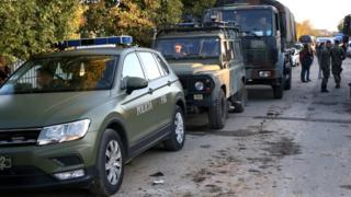 Kosovo Security Forces (KSF) arrive after a 6.4-magnitude earthquake hit Albania's Durres city, 26 November 2019