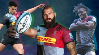 Joe Marler and other Harlequin players