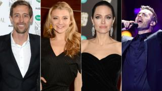 Peter Crouch, Natalie Dormer, Angelina Jolie, Gary Barlow