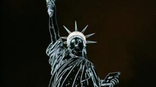 Nkwu mnwereonwe dị na Nu Yọk a na-akpọ 'statue of liberty' na bekee