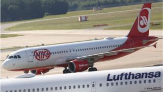 Niki Airlines aeroplane