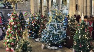 Christmas trees in St Mary's Melton
