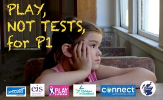 Postcard used in campaign against P1 tests