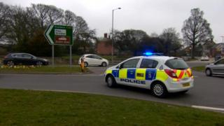 Grindale Road junction of A165