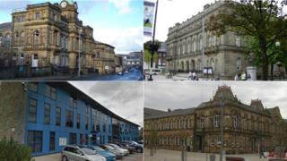 Council offices in Burnley, Blackburn, Nelson and Bacup