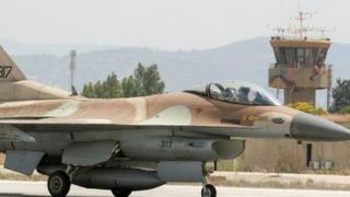جنگده اف16 نیروی هوای اسرائیل از پایگاه رامات دیوید بلند می شود - 28 ژوئن 2016