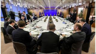 The other 27 EU leaders meeting in Brussels