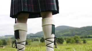 A traditional woollen kilt