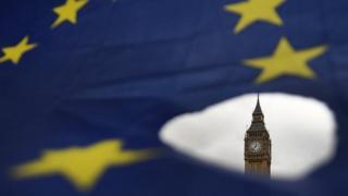 Houses of Parliament and a EU flag