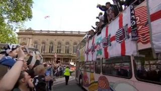 Grimsby Town parade