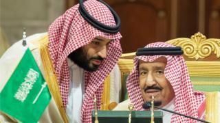 الملك السعودي وابنه
