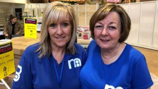 Mothercare sales advisers Karen and Sue