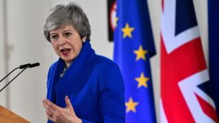 Theresa May speaking in Brussels, 11 Apr 17