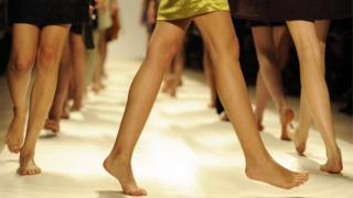 Bare walking feet