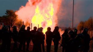 Bloomfield Walkway bonfire, Belfast