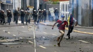 Venezüella protesto
