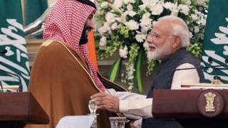 ولي العهد السعودي ورئيس الوزراء الهندي