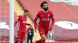 Mo Salah scores for Liverpool