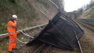 Trampoline on rail track