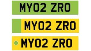 Green number plates planned for electric cars
