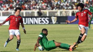 Un match de qualification Nigeria-Egypte pour la CAN 2017, en mars 2016, à Kaduna.