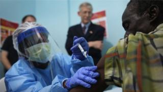 Chanjo hiyo ilitumika kwanza kwa kiasi fulani wakati wa janga la Ebola Afrika magharibi kati ya mwaka 2014- 2016