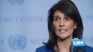 Amerika Birleşik Devletleri'nin Birleşmiş Milletler (BM) Büyükelçisi Nikki Haley