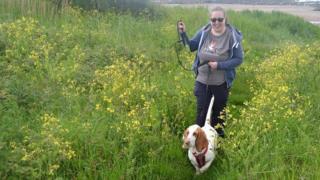 Michelle Keith et son chien