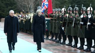 Başbakan Binali Yıldırım ve İngiltrere Başbakanı Theresa May