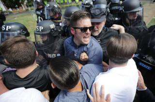 Spencer and his allies clashed with police in Charlottesville