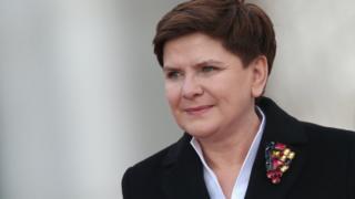 Le Première ministre polonaise Beata Szydlo en visite à Berlin, le 12 février 2016.