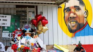 Makeshift memorial in Baton Rouge