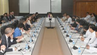 ကုလသမဂ္ဂ လုံခြုံရေး ကောင်စီ အဖွဲ့ဝင် သံမတန်တွေ ဒေါ်အောင်ဆန်းစုကြည်နဲ့ တွေ့ဆုံခဲ့