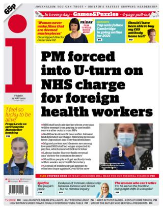 The i front page 22/05/20