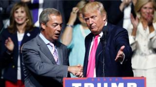 Nigel Farage y Donald Trump