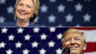 Trump Clinton beraber