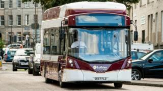 Lothian electric bus
