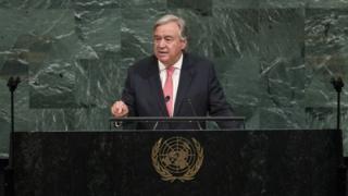 Antonio Guterres le S.G. de l'ONU
