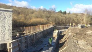 Flood protection works