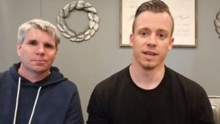 Associate pastor Jaddeus Dempsey and lead pastor Justin Ross