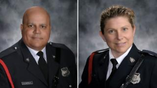 Constable Robert (Robb) Costello, 45, and Constable Sara Burns, 43.