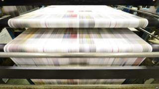 Newspaper print line