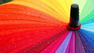 A colourful umbrella